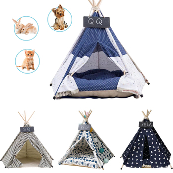 2021-new-pet-products-supplies-pet-cat-dog-teepee-with-cushion-blackboard-dog-house-cat-tent-portable-folding-houses-supplies