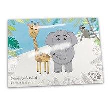 Cartões postais para colorir diy-5 em um pacote, tamanho a5
