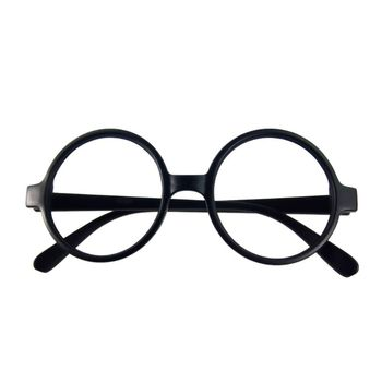 Retro Nerd Style Cute Baby Round Glasses Frame No Lenses Candy Color Plastic Mother Daughter Cosplay Party Costume Eyewear image