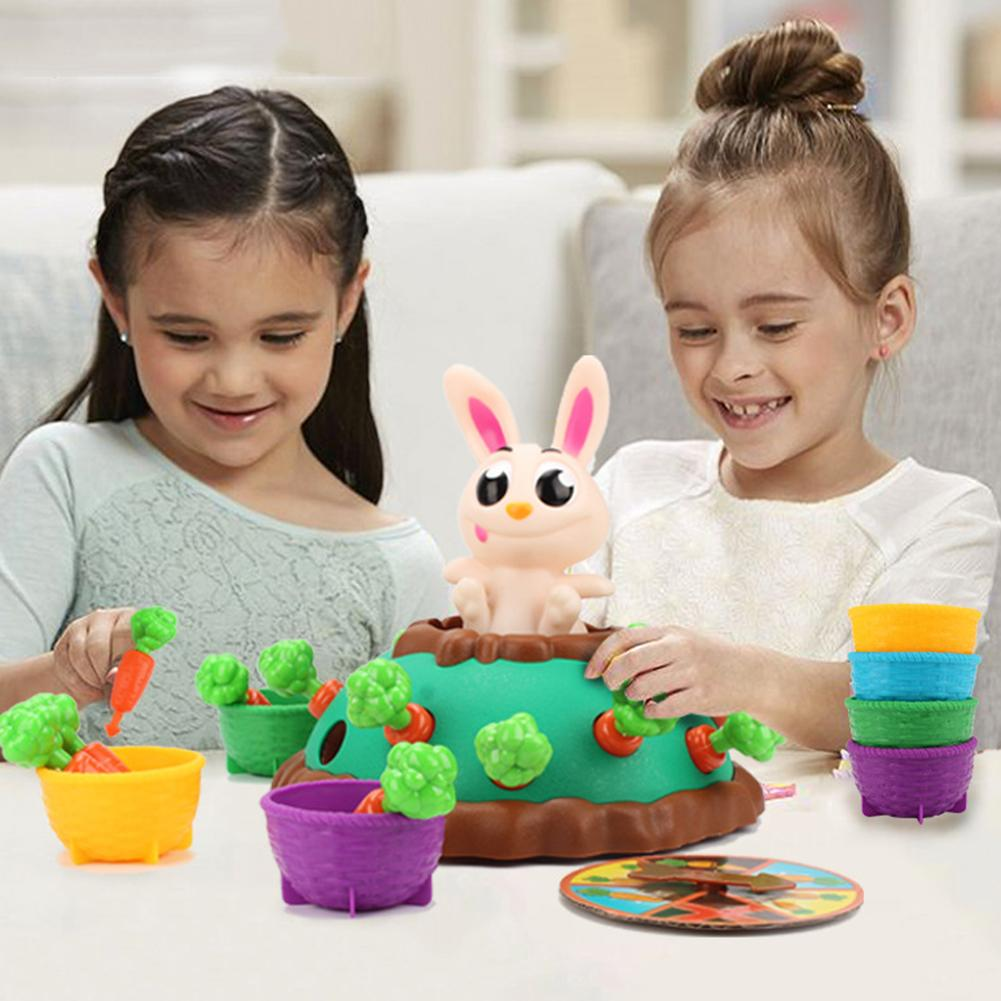 Parent-child Interactive Toy Cute Bunny Electric Puzzle Board Game Party Game Jumping Rabbit Pulling Carrot Puzzle Game Toy Gift