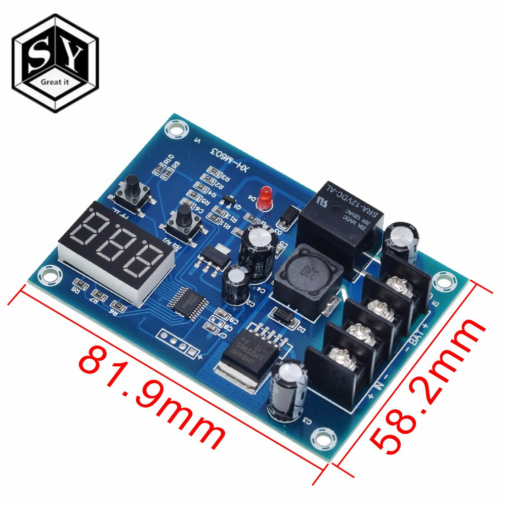 DC 12-24V XH-M603 Lithium Battery Charge Control Protection Module Storage Board