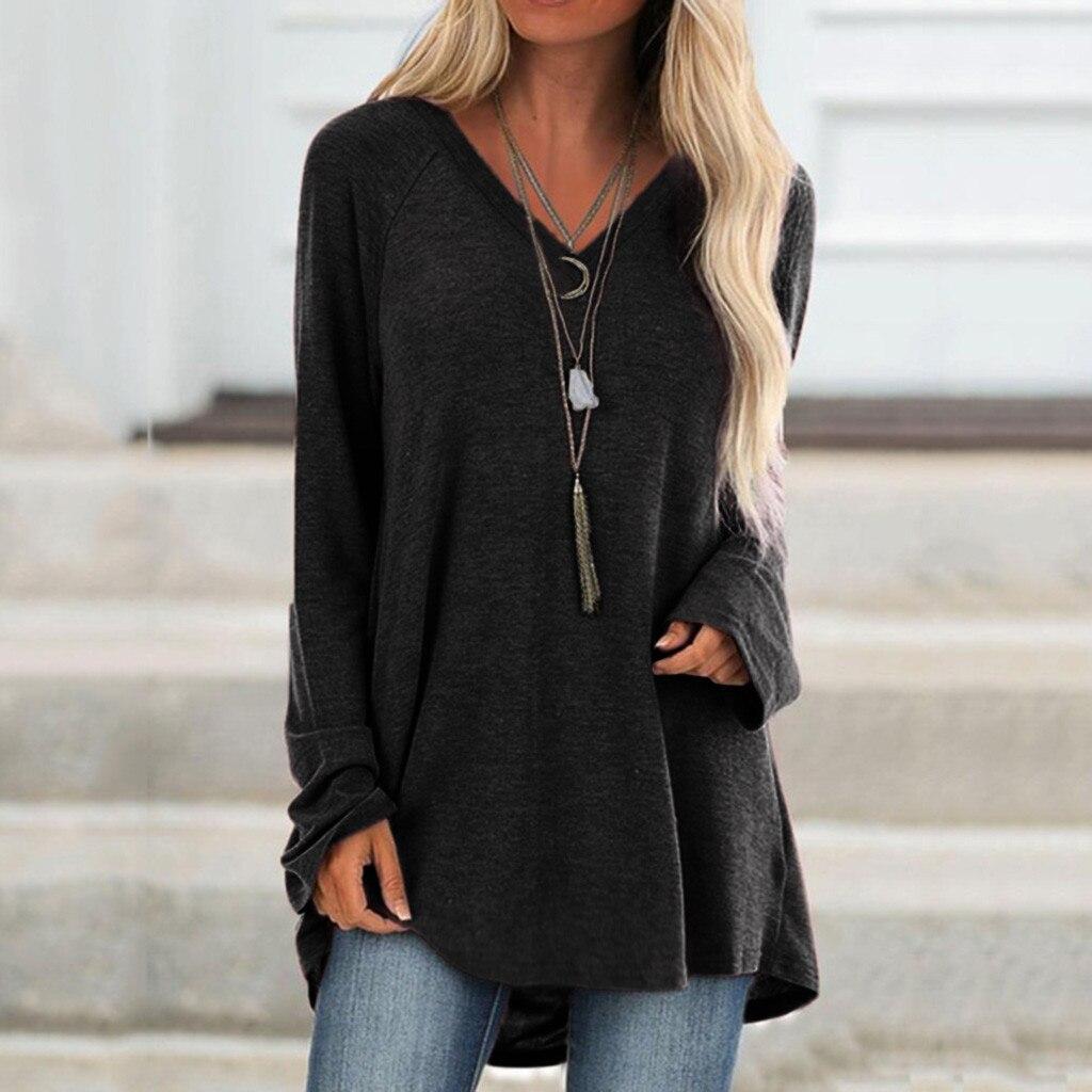 MISSOMO Vintage T Shirt Women V Neck Long Sleeved Femme T-shirt 5XL Tops Casual Festival Tshirt Feminina Ropa Mujer Tees Clothes