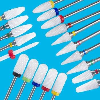 Milling Cutter For Manicure Ceramic Mill Manicure Machine Set Cutter For Pedicure Electric Nail Files Nail Drill Bit Feecy 1