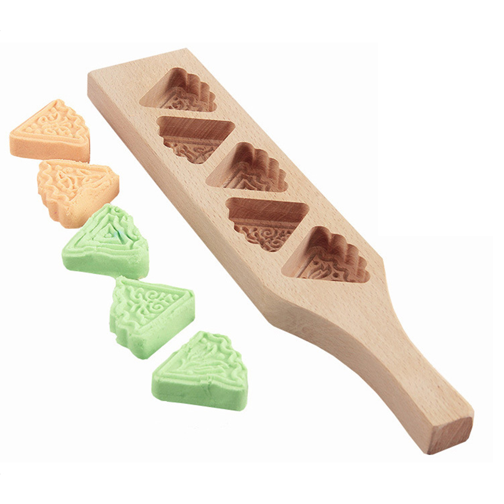 Deepened Wood 3D Mooncake Mold Baking Tool Pumpkin Pie Steamed Bread Kitchen Mould image