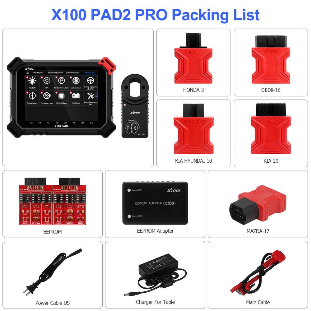 XTOOL X100 PAD2 Pro Pad 2 лучше, чем X300 Pro3 DP Auto Key Программист с 4-м и 5-м Immo для большинства моделей автомобилей