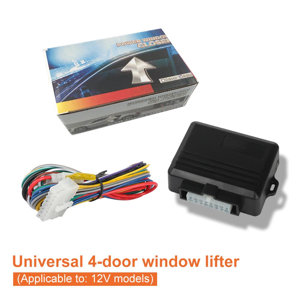 Universal Car Power Window Roll Up Closer For 4 Doors Auto Close Windows Remotely Close Windows Modu
