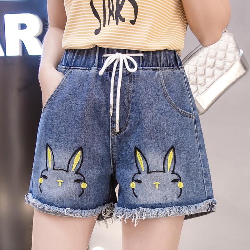 HAYBLST Brand Denim Shorts Women Summer 2020 PlusSize 5XL Streetwear Casual Korean High Waist Jean Ultra Short Trousers Clothing