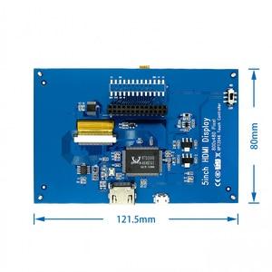 Image 3 - LCD מודול 5.0 אינץ Pi TFT 5 אינץ מגע Resistive מסך 5.0 אינץ LCD חומת מודול HDMI ממשק לפטל pi 3 +/B +/2B