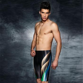 New Style PHINIKISS New Style Racing Swimming Trunks Boxer Mosaic Gradient Shorts Foreign Trade Swimwear