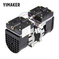 Bomba de vacío de doble cabezal YIMAKER 110 V/220 V, bomba de vacío sin aceite de 100W 60HZ 24 l/MIN 30 l/MIN para uso médico especial