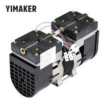 YIMAKER 110V /220V מיקרו משאבת ואקום כפול ראש Oilless דיאפרגמה אבק שאיבת 100W 60HZ 24L/דקות 30L/MIN עבור רפואי מיוחד