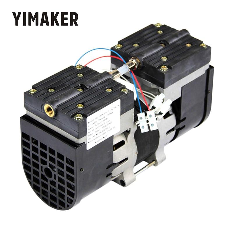 Yimaker 110 v/220 v micro bomba de vácuo cabeça dobro oilless diafragma vácuo bombeamento 100 w 60 hz 24l/min 30l/min para médico especial