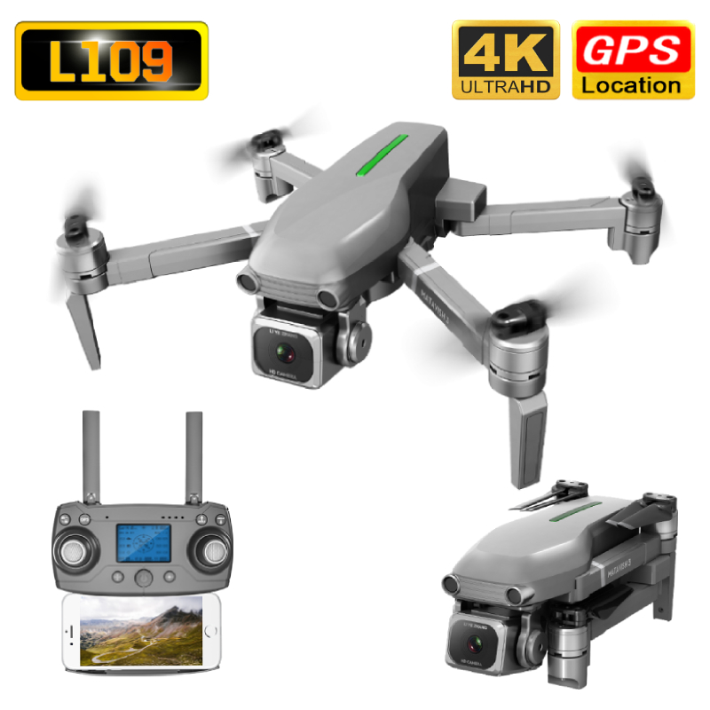 L109 Drone GPS 4K HD Camera 5G WIFI FPV Brushless Motor Foldable Selfie Drones Professional 1000m Long Distance RC Quadcopter image