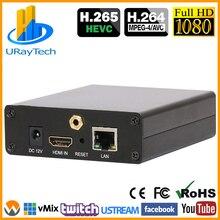 Codificador de vídeo HEVC H.265 H.264 HDMI a IP, retransmisión en directo, IPTV, con HTTP, RTSP, RTMP, RTMPS, HLS, ONVIF, UDP, SRT, etc.