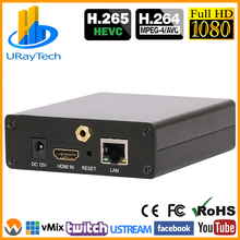 HEVC H.265 H.264 HDMI Video to IP Encoder Live Streaming Broadcast Encoder IPTV with HTTP RTSP RTMP RTMPS HLS ONVIF UDP SRT etc