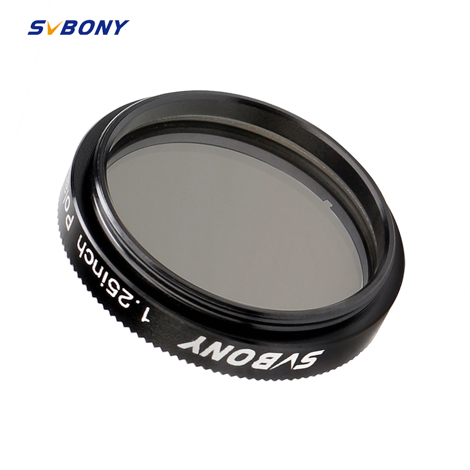 SVBONY 1.25'' Polarizing Filter Linear For Telescope Astronomy & Eyepiece Increasing Contrast Reduce Glare Increase Detail F9165