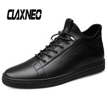 CLAXNEO Man Boots Genuine Leather Autumn Winter Male Casual Shoes Fur Warm Male Ankle Boots northmarch men winter boots casual genuine leather business man shoes flat heel ankle boots for male comfortable orange boots