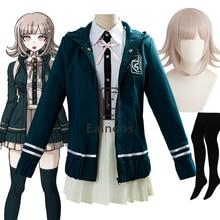 Anime Super DanganRonpa Nanami ChiaKi Cosplay Costume Girls JK Uniform Women Sailor Suit Jacket Wig