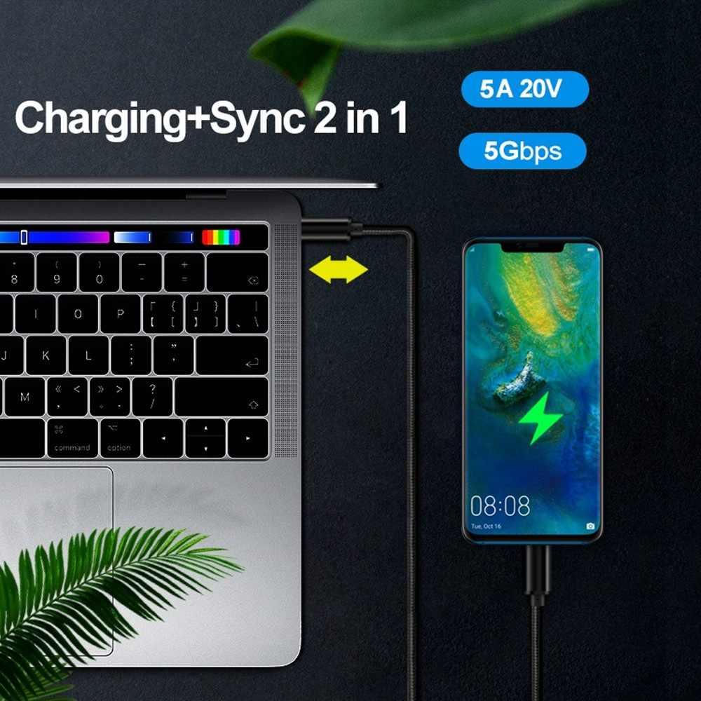 Cable USB C PD 100W, carga rápida QC 4,0 3,0, cable USB 3,2 gen1 para Xiaomi Redmi Note 8 Pro, carga rápida