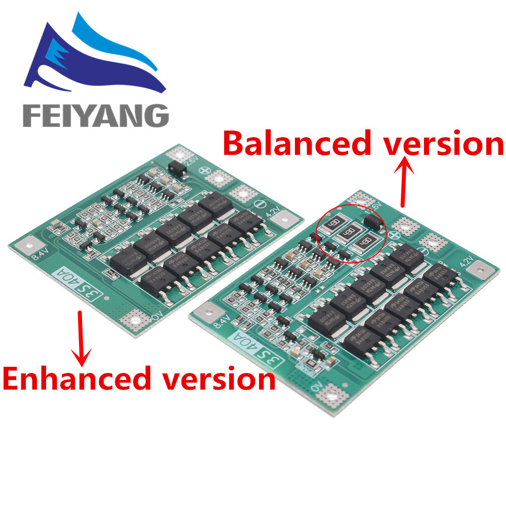 10pcs 3S 40A Li-ion Lithium Battery Charger Lipo Cell Module PCB BMS Protection Board For Drill Motor 12.6V with Balance