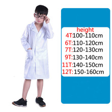 Children cosplay science white lab clothes experimental protection special class