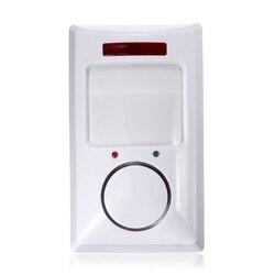 Bezprzewodowy czujnik ruchu ir detektor i 2 pilot zdalnego bezpieczeństwo w domu system antywłamaniowy biały w Czujnik i detektor od Bezpieczeństwo i ochrona na