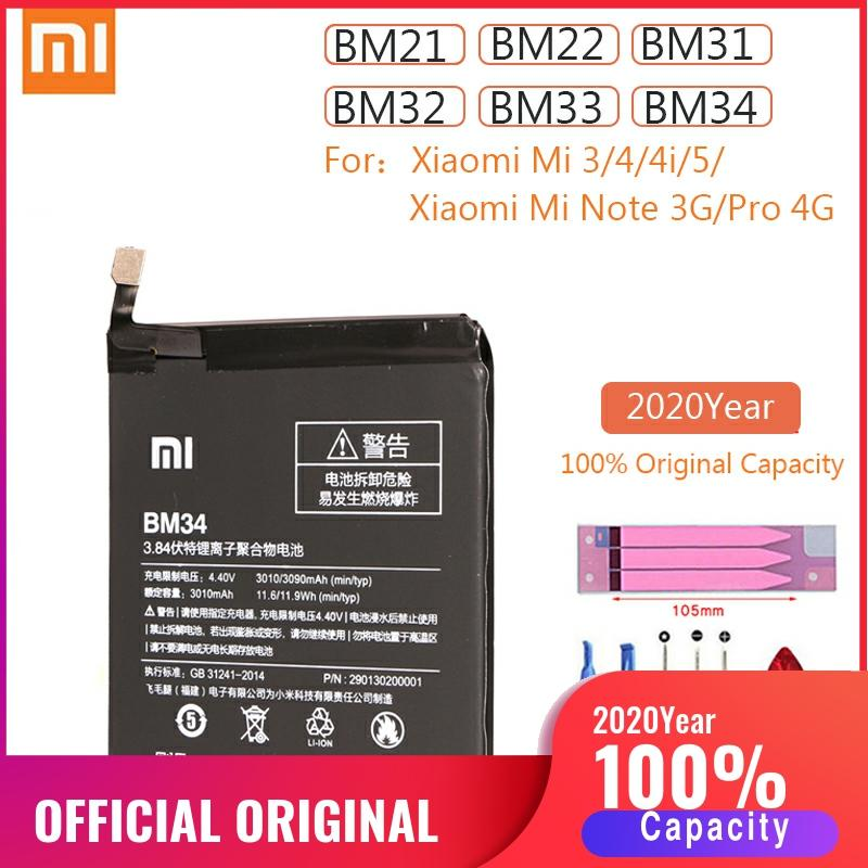BM21 BM22 BM31 BM32 BM33 BM34 Original Xiao <font><b>Mi</b></font> 3 4 <font><b>5</b></font> 4i Note Pro Replacement <font><b>Battery</b></font> For Xiaomi Mi3 Mi4 Mi5 MiNote 3GB <font><b>batteries</b></font> image