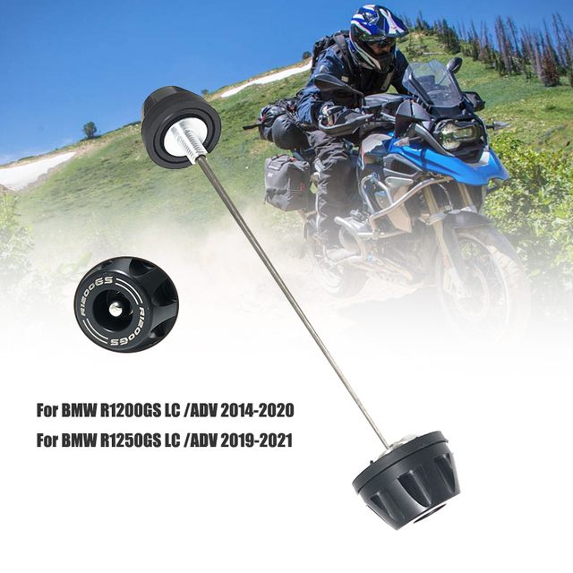 For BMW R1200GS LC Adventure R1250GS ADV GSA R1250RT R1200RT 2013 2021 Motorcycle Front Axle Fork Wheel Protector Crash Slider