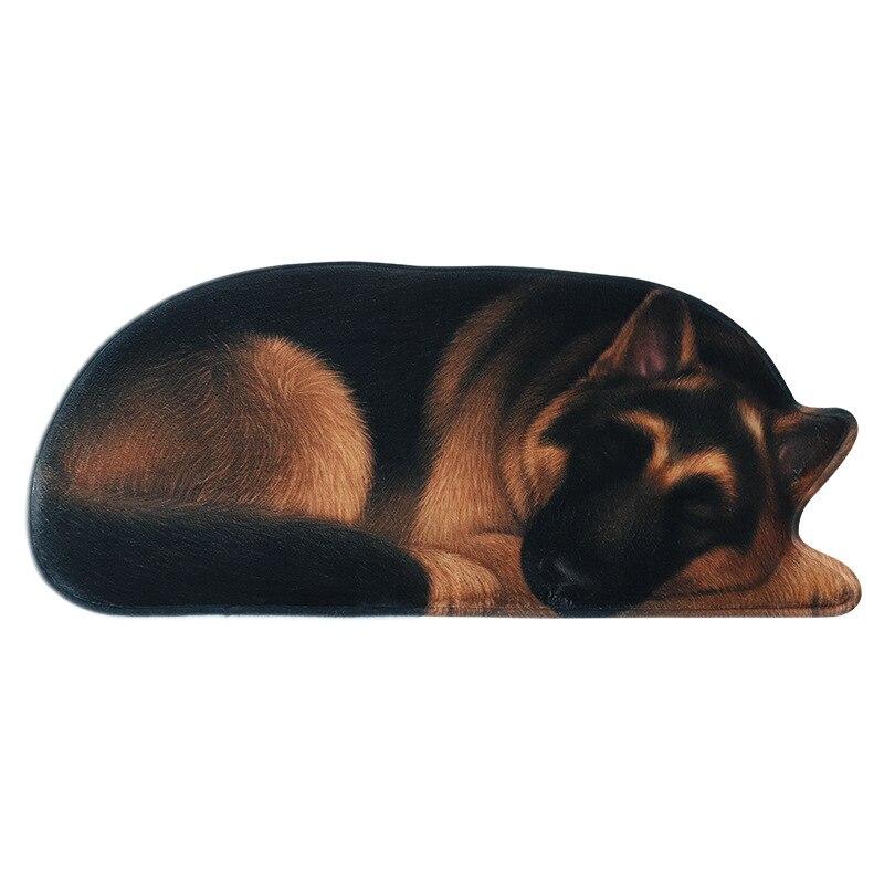 新ビッグ 3D ペット犬床敷物不規則な玄関玄関マット抗のマットキッチンバスマット動物プリントカーペット