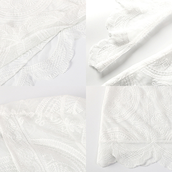 Talla Grande Playa Encubrir   Liegrasse Tejer Bikini Cubrir Ropa De Playa De Corte Bajo Pareo Sexy Cubierta De Playa Ahueca Hacia Fuera Vestido De Playa Largo Blanco Plus Tamaño