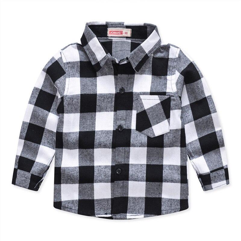 Рубашки для мальчиков, новинка 2020, рубашки с длинным рукавом в британском стиле на весну и осень, хлопковые рубашки в клетку с принтом, детск...