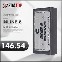 Adaptador inline6 de enlace de datos, herramienta de diagnóstico de servicio pesado, escáner de Cable en línea, escáner 6, cable completo 8, diagnóstico de camiones V7.62, USB