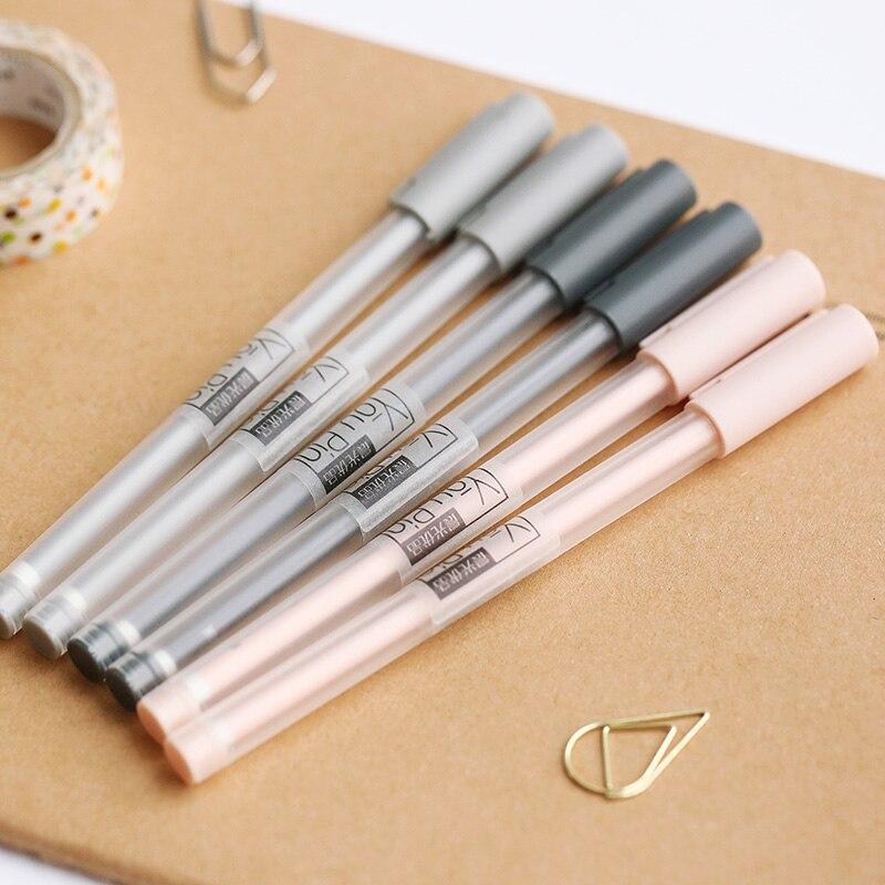 Mohamm 0.35 مللي متر شفاف أسود الحبر هلام القلم مكتب مدرسة الكتابة طالب لوازم القرطاسية لون عشوائي (1 قطعة)