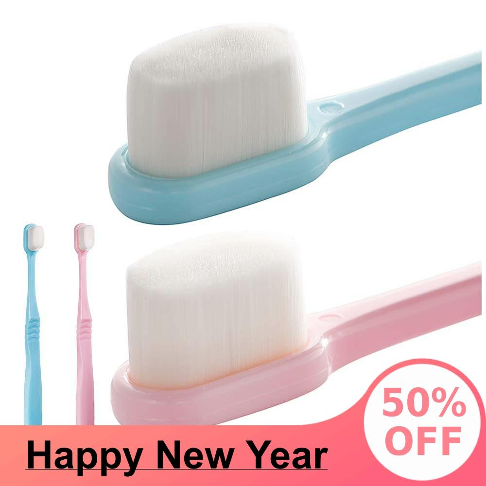 Extra Soft Toothbrush For Sensitive Gums, Micro-Nano Manual Toothbrush with 20000 Soft Floss Bristle for Gum Care image