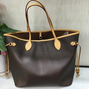 Отличное качество, неточные сумки для женщин, 2020, сумка для покупок, роскошная брендовая сумка через плечо, холщовая кожа, Neverfull, сумки мм/GM