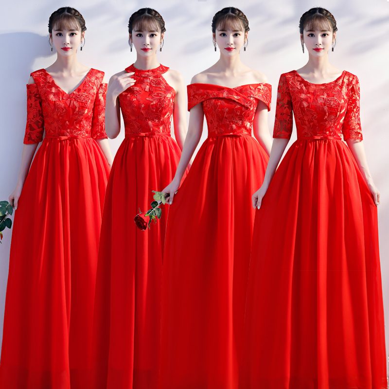 Embroidery Chiffon Long Dress For Wedding Party For Woman Junior Bridesmaids Dresses Elegant  Long Prom Dress Champagne Vestidos