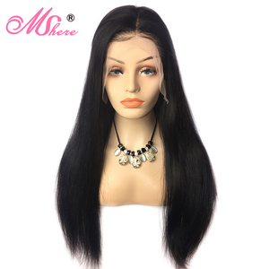 Image 3 - Mshere Straight Lace Front Human Hair Wigs 13x4 Brazilian Straight Hair Wig with Baby Hair 4x4 Lace Closure Wig Pre Plucked 150%