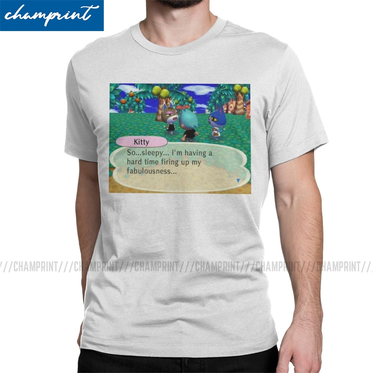Men So Sleepy T Shirts Animal Crossing New Leaf Game Cotton Tops Casual Short Sleeve Crew Neck Tee Shirt New Arrival T-Shirts