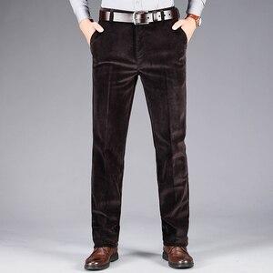 Image 4 - 2020 осень и зима новые мужские вельветовые повседневные брюки деловые модные высококачественные прямые Стрейчевые брюки мужские брендовые