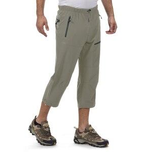 summer casual pants men waterproof 3/4 outdoor trekking running waterproof elastic quick dry coolmax designer trousers xxl pants(China)