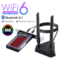 Беспроводной PCIe двухдиапазонный адаптер 3000 Мбит/с Intel AX200 Wi-Fi 6 Bluetooth 5,1 сетевая Wi-Fi карта 802.11ac/ax 2,4G 5G RGB Настольный ПК