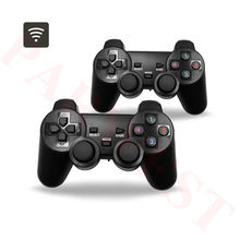 Double Wired Wireless Joypad for 3D Pandora Box Pandora's DX Gaming Controller Arcade Game Board USB Wired Wireless gamepad(China)