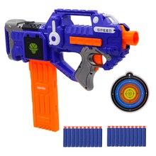 Новое поступление Электрический Мягкий пулевой пистолет снайперский костюм для стрельбы для Nerf игрушечный снаряд пистолет EVA Dart Blaster игрушечный стрелковый пистолет дети лучший подарок