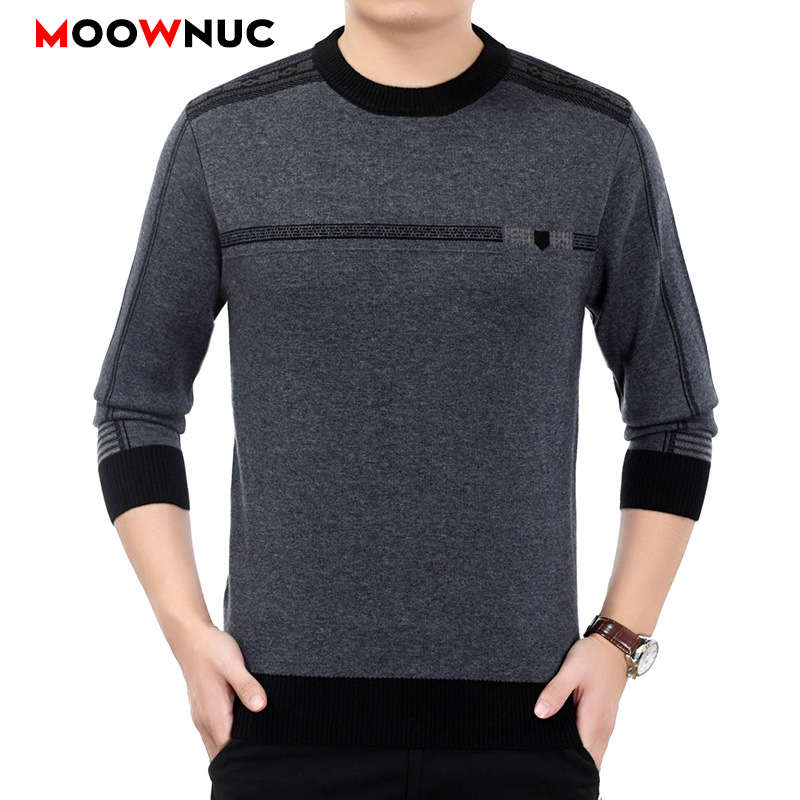 Men's Clothes Homme Sweaters MOOWNUC Pullover Spring Long Sleeve Shirt Fashion Knitted Casual Male Slim Fit Striped Sweaters
