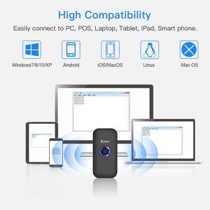 Image 2 - Eyoyo EY 009L 3 em 1 bluetooth usb com fio & sem fio 1d scanner de código de barras leitor scaner código de barras para mac android ios tablet computador