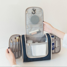 Travel makeup bag For women Portable Double Open Wash Bags Cosmetic Bags Bathroom Supplies Hook Storage Bags Toiletry Organizer aosbos women lightweight waterproof makeup bags multifunctional travel cosmetic bags cases fashion portable wash toiletry bag