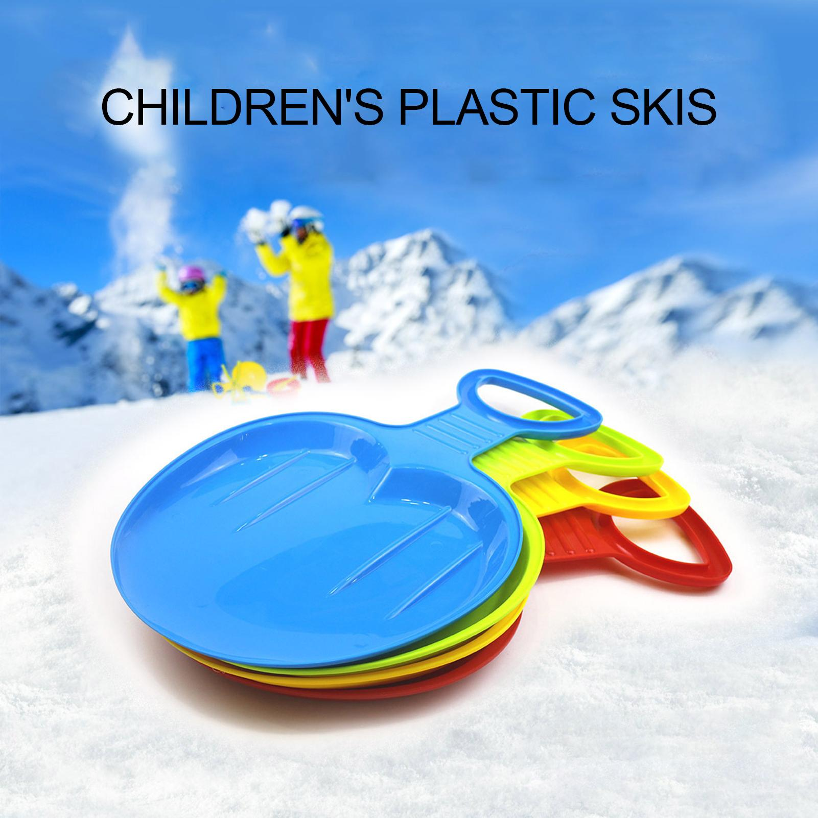 Children Outdoor Winter Park Lawn Snow Sled Sledge Toboggan Sport Ski Board