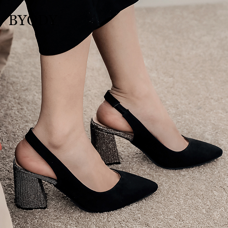 Plus Size 34-48 Women/'s High Heels Glitter Pointed Toe Party Mary Janes OL Shoes