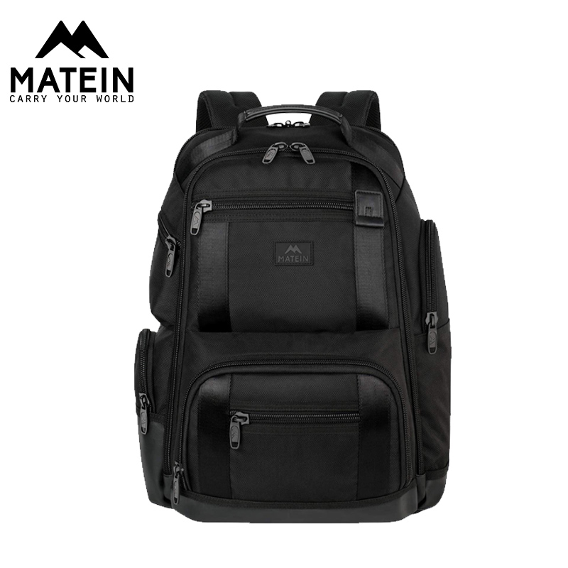 Matein 2019 Fashion Men's Backpack 17inch No Key TSA Laptop Backpack Polyester Students Bags For Boys Girls Male Backpack Bags