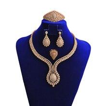 Hadiyana juegos de joyas para mujer, Set de 4 Uds. De zirconia cúbica de lujo, accesorios Vintage para dama de honor TZ8021